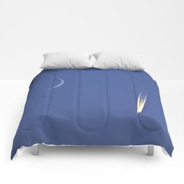 Moon and Jet in the Deep Blue Comforters
