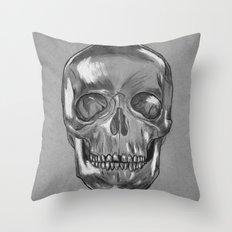 grungy skull Throw Pillow
