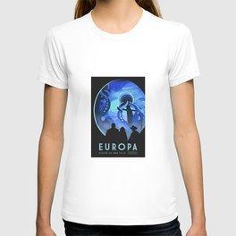 Europa Space Travel Retro Art T-shirt