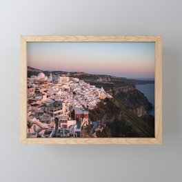 Magic Hour in Thira, Santorini Framed Mini Art Print
