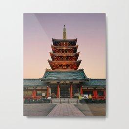 Five-Storied Pagoda at Sensoji Temple Fine Art Print Metal Print