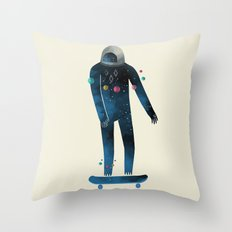 Skate/Space Throw Pillow