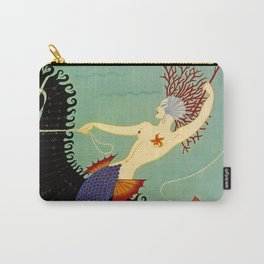 "Art Deco Illustration ""Water"" Carry-All Pouch"