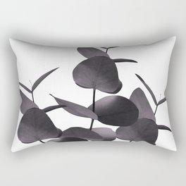 Eucalyptus Leaves Black White #1 #foliage #decor #art #society6 Rectangular Pillow