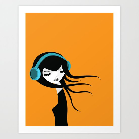 Flow In The Music Art Print