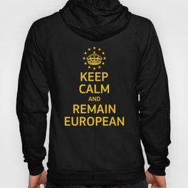 Modern Yellow Blue Keep Calm Crown Europe Vector Hoody
