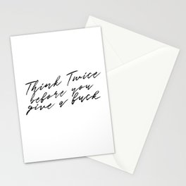 Think Twice Stationery Cards