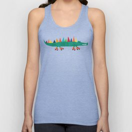 Crocodile on Roller Skates Unisex Tanktop