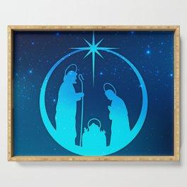 Nativity Scene Silhouette  Serving Tray