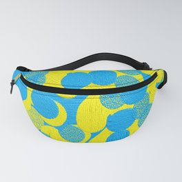 blue and yellow dots Fanny Pack