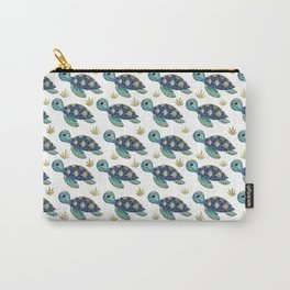 Cute Blue Sea Turtle Carry-All Pouch