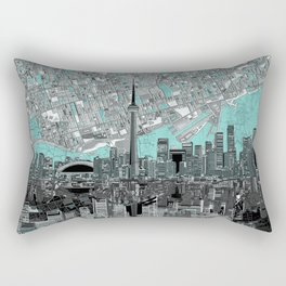 toronto city skyline Rectangular Pillow
