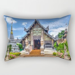 Chiang Mai Thailand Buddhist Temple Rectangular Pillow