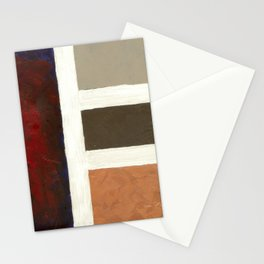 Textured Cubism -Modern Art - Color Blocking Art - Hospitality Art - Corbin Henry Stationery Cards