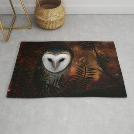 Barn owl at night Rug