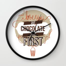 Words of love - Chocolate Wall Clock