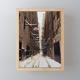 Chicago Winter Alley Framed Mini Art Print