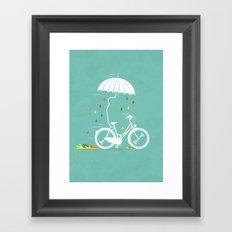 I want to ride my bike ! Framed Art Print