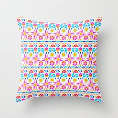 Happy Geo Throw Pillow