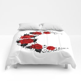 Moon of Red Roses Comforters
