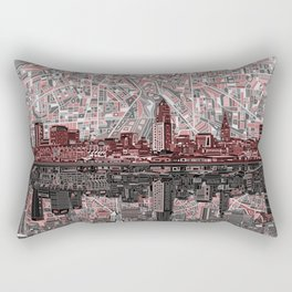 cleveland city skyline Rectangular Pillow