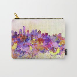 New York skyline in watercolor background Carry-All Pouch