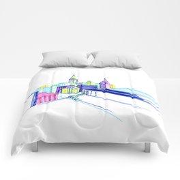 Vibrant city Comforters
