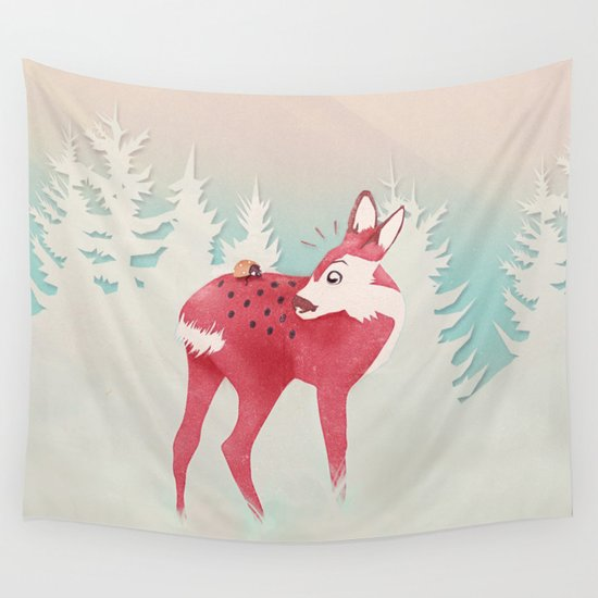 Oh deer, what the bug?! Wall Tapestry