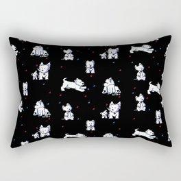 KiniArt Westie Block Party Rectangular Pillow