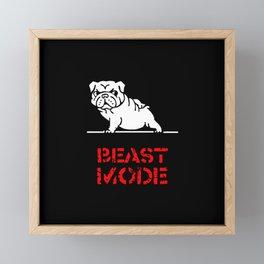 Beast Mode English Bulldog Framed Mini Art Print