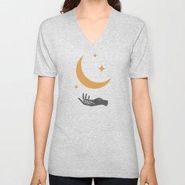 Moonlight Hand Unisex V-Neck