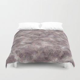 Gray Marble Pattern with Rose Gold Duvet Cover