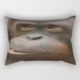 Orangutan Face Rectangular Pillow