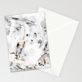 leaf marble Stationery Cards