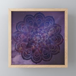 Ultraviolet Mandala Framed Mini Art Print