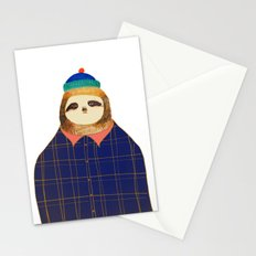 Hipster Sloths be like. Stationery Cards