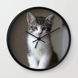 Jack - Kitten Portrait #2 (2016) Wall Clock