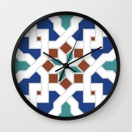 Geometric Pattern - Oriental Design Pt. 7 Wall Clock