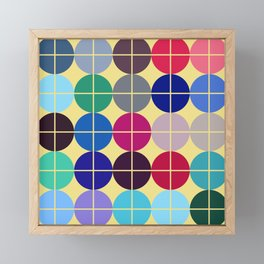 Multicolor Dots on Grid Framed Mini Art Print
