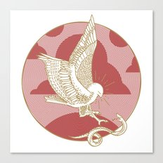 Hawk & Serpent Canvas Print