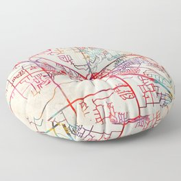 Olive Branch map Mississippi MS Floor Pillow