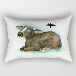 Chinese Zodiac Year of the Ox Rectangular Pillow