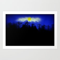 Spooky Forest Engulfs The Light Art Print