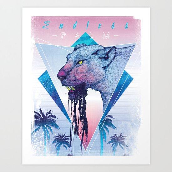 Endless Palm Art Print