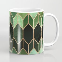 Stained Glass 5 - Forest Green Coffee Mug