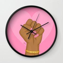 Black Lives Matter Power Fist Wall Clock