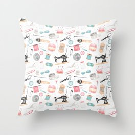 The Craft Room Throw Pillow
