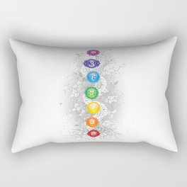 7 Chakra Symbol Tree Of Life #26 Rectangular Pillow