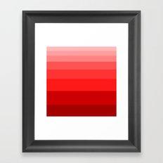 Shades of Red. Framed Art Print