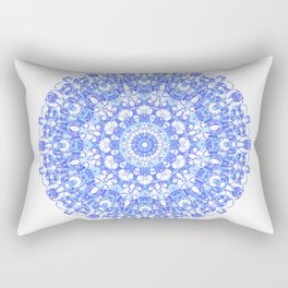Mandala 12 / 1 eden spirit indigo blue Rectangular Pillow